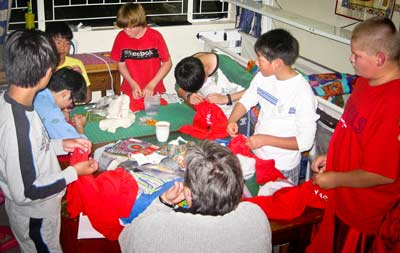 group-sewing
