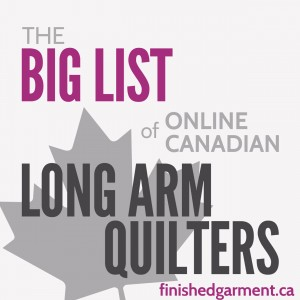list of long arm quilters in Canada