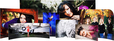 curved metal prints
