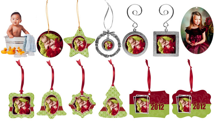 Christmas ornaments with pictures printed