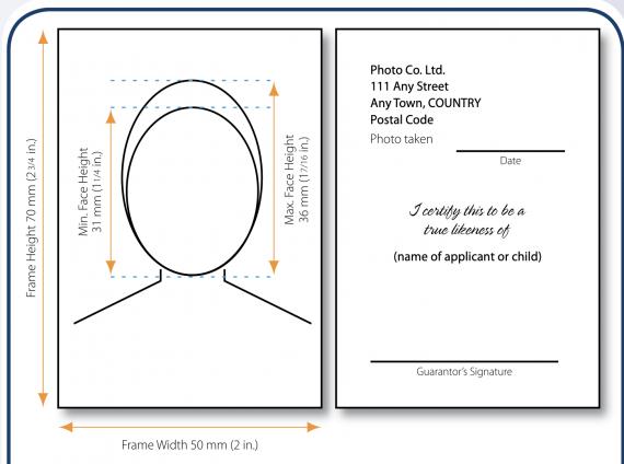 passport requirement specifications